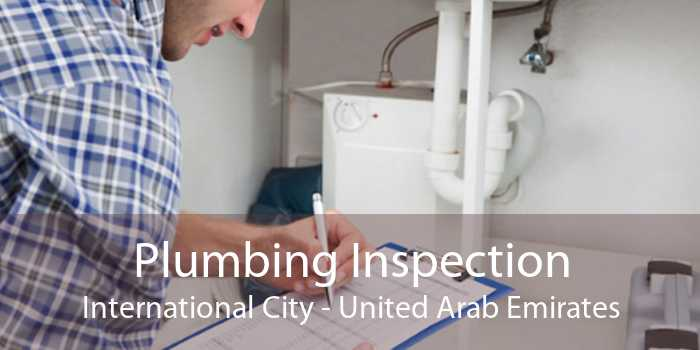 Plumbing Inspection International City - United Arab Emirates